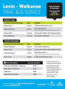 New Levin to Waikanae Bus Service