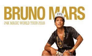 Transport to Bruno Mars – Spark Arena Auckland – 27th Feb 2018